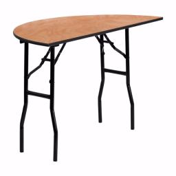 Offex 48'' Half Round Wood Folding Banquet Training Room Table