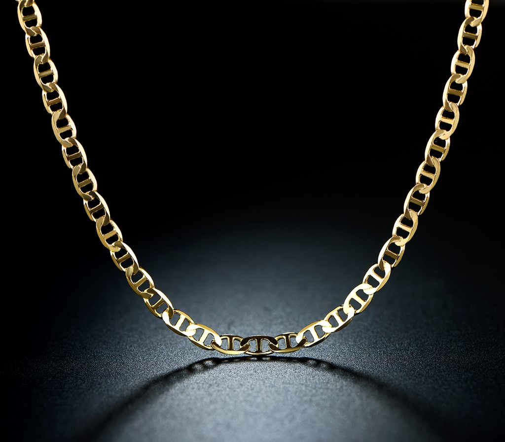 Gucci Link Chain >> Gold Plated Gold 18 Gucci Link Chain Necklace
