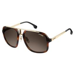 Carrera Men's Ca1004s Aviator Sunglasses HAVANA GOLD/BROWN GRADIENT 57 mm