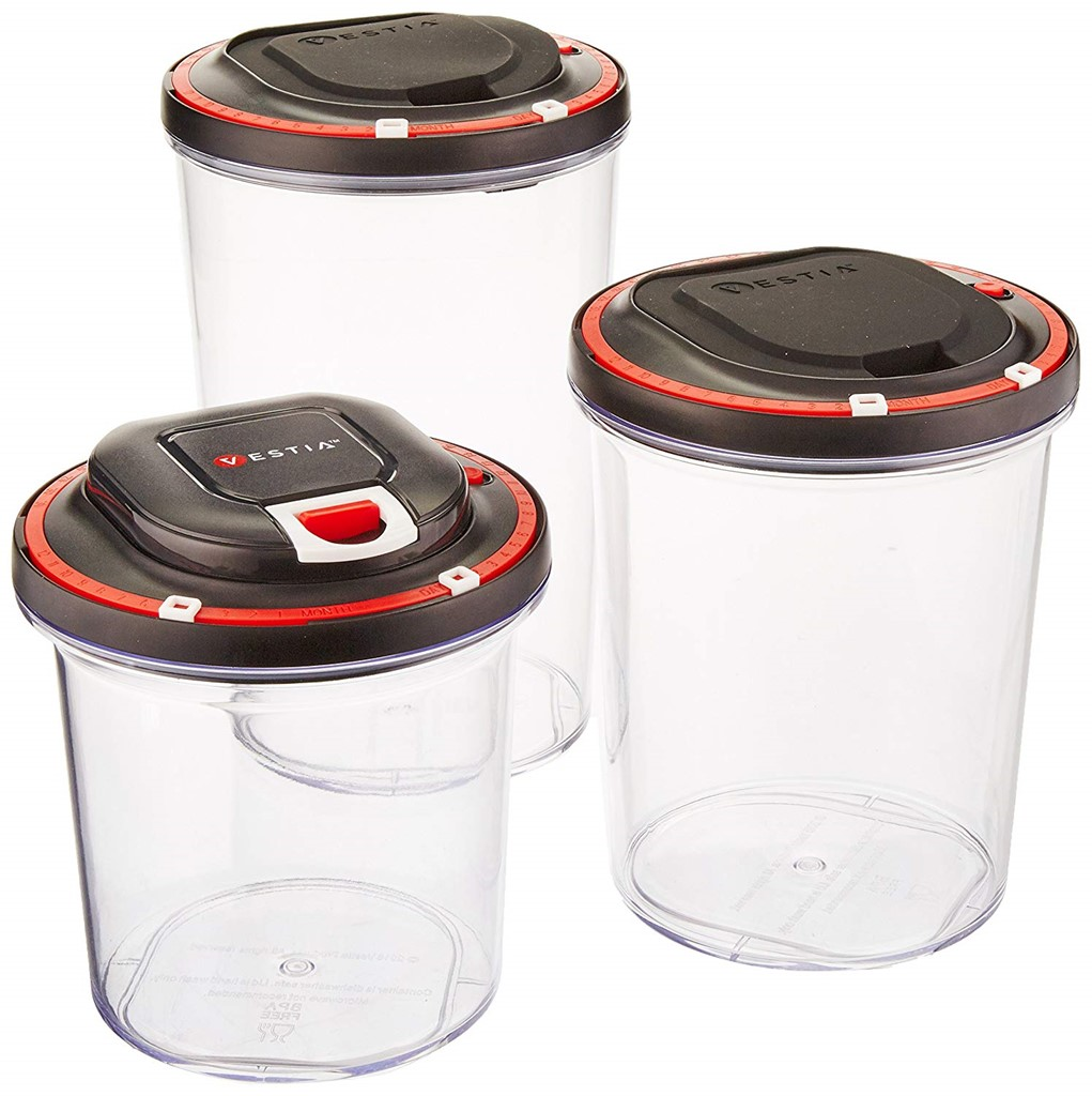 [Set of 3] Vestia Auto Vacuum Sealing Food Storage Container with Motor