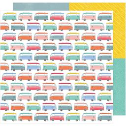 American Craft Oh Happy Life Collection 12 X 12 Double Sided Paper Enjoy The Ride
