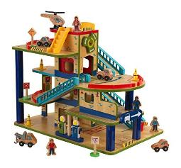 KidKraft Wash N Go Wooden Car Garage Playset