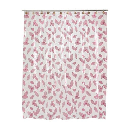 Carnation Home Fashions Autumn Leaves Vinyl Shower Curtain in Burgundy