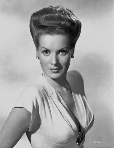 Maureen O'Hara Portrait in White Deep V-neck Dress Photo Print