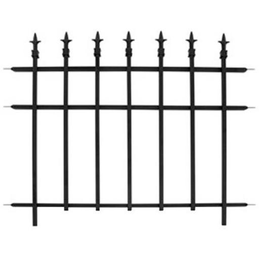 87103 Classic Garden Fence Section, Black