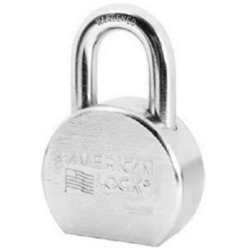 Master Lock A700KA27334 2.5 in. Solid Steel Chrome Plated Lock - Round