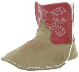 Anderson Bean Western Boots Boys Infant Baby Bean Bone Red Glove B1019