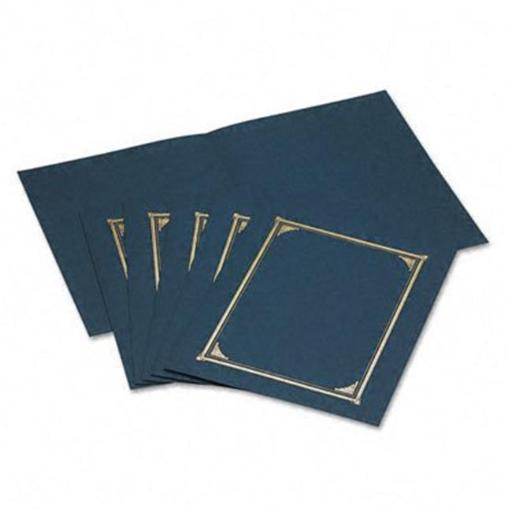 Certificate/Document Cover Linen Stock Navy Blue Six per Pack