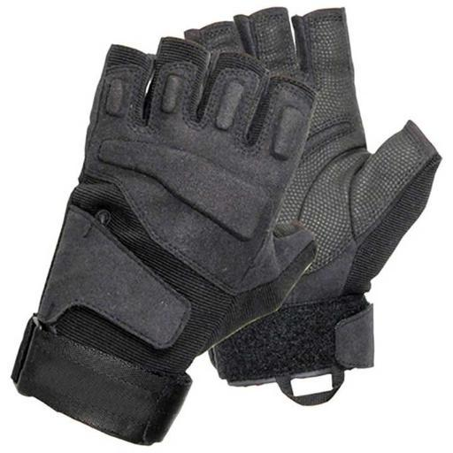 Vista blackhawk men's black solag special ops 1/2 finger light assault glove med