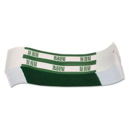Currency Straps   Green   $200 In Dollar Bills   1000 Bands/Pack   1 Pack of: 1000