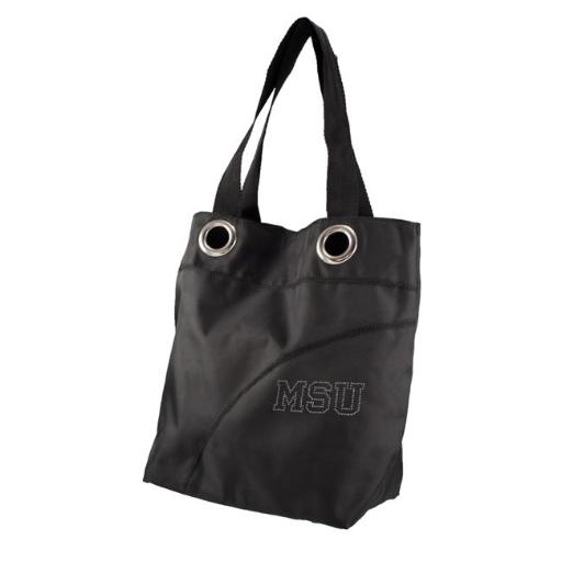 Little Earth 151005-MIST-BLACK-1 NCAA Sport Noir Sheen Tote - Michigan State Spartans, Black OBQ6QQRZW8VDGOEE
