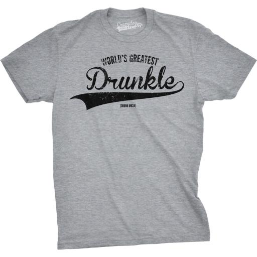 Mens Worlds Greatest Drunkle Funny Drunk Uncle Family Relationship T shirt