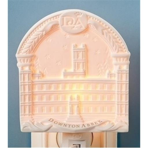 Northlight Seasonal 31751851 Arched Downton Abbey Highclere Castle Bisque Porcelain Decorative Night Light