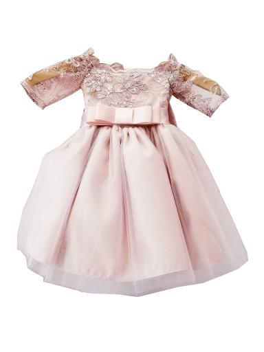d08088a87 Sinai Kids Baby Girls Pink Embroidered Ribbon Accent Flower Girl Dress 6-24M