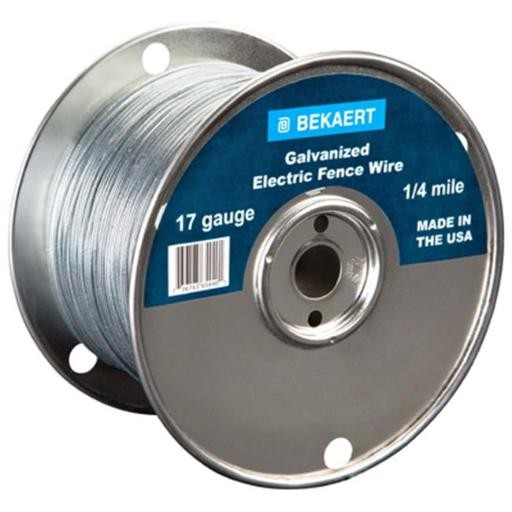 Bekaert 210348 0.25 Mile Electric Fence Wire - 17 Gauge