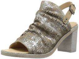 Naughty Monkey Womens Nyxx Leather Open Toe Special Occasion, Nude, Size 7.0