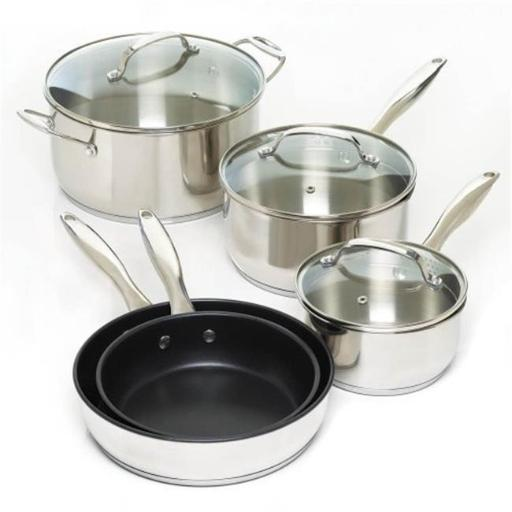Stainless Steel Cookware Set, 8 Piece