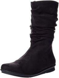 BUSSOLA Womens cable Closed Toe Knee High Fashion Boots