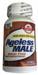 New Vitality Ageless Male Testosterone Booster Tablets, 60 Counts