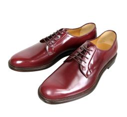Gucci Men's Lace-up Wine Red Leather Oxford 295618 6083