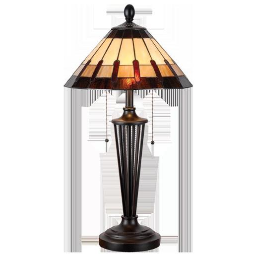 Kenroy Home 32717BRZ Harmond Tiffany Table Lamp