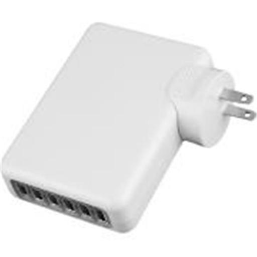 4Xem 4XUSBCHARGER6 4A 6Port Universal USB Power Adapter - Wall Charger for Apple, Iphone, Ipad, Ipod & Samsung