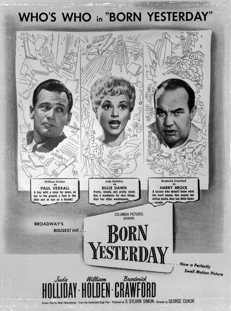 A Promotional Poster For Born Yesterday Photo Print