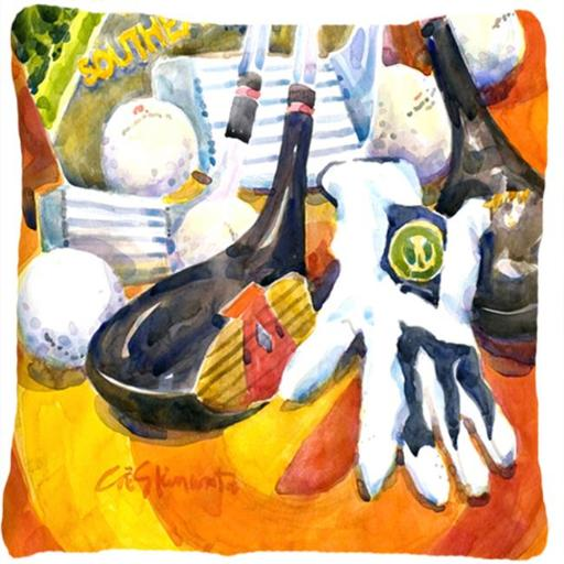 Carolines Treasures 6070PW1414 Southeastern Golf Clubs With Glove & Balls Decorative Indoor & Outdoor Fabric Pillow