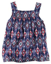 Carter's Little Girls' Flowy Printed Tank, 2-Toddler