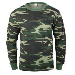 Woodland Camouflage Thermal Shirt, Long Underwear Top 6100