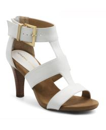Adrienne Vittadini Womens varsity Leather Open Toe Casual Ankle Strap Sandals