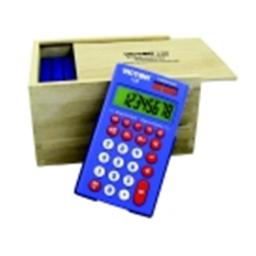 Victor 8-Digit Calculator Set With Ecological Wood Storage Box- Set - 10