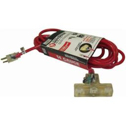 Alert Stamping CTL-100M Master Electrician 100 ft. 14-3 SJTW-A Outdoor Red Cord