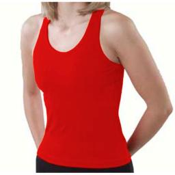 Pizzazz Performance Wear 9800 -RED -2XL 9800 Adult Racer Back Top - Red - 2XL