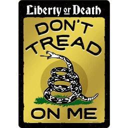 Open road brands 90161219 open road brands tin sign w/ knock out don't tread on me