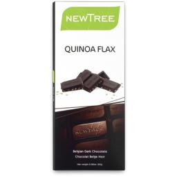 NEWTREE 20186 2.82 oz. Organic Quinoa Flax Chocolate Bar-Pack of 4