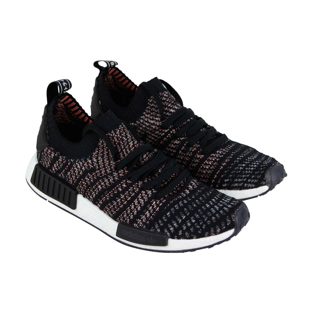 366c66f75 Adidas Nmd R1 Stlt Pk Mens Black Textile Athletic Lace Up Running Shoes