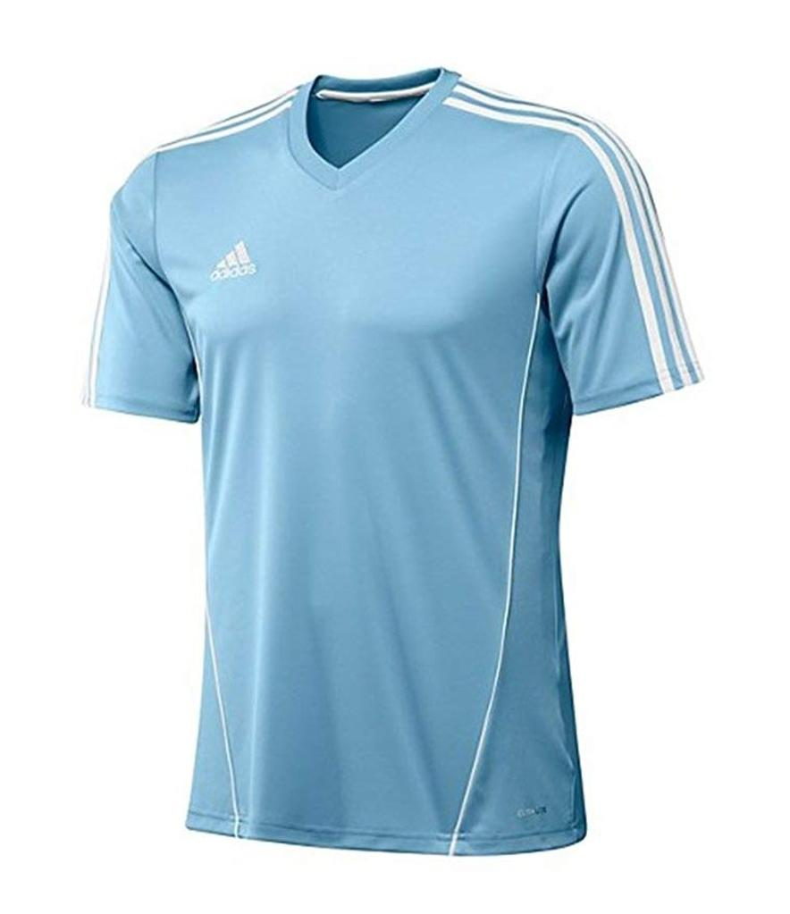 Adidas Boys Estro 12 Soccer Jersey T-Shirt Sky Blue/White Size Youth