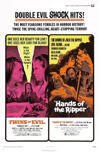 Twins Of Evil Hands Of The Ripper Us Poster 1971 Movie Poster Masterprint FRWT9EPC9NS0WQ61