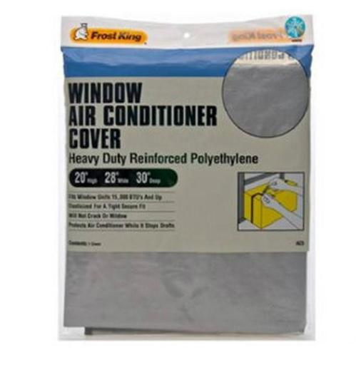 Thermwell Ac5h Window Air Conditioner Cover, 20  X 28  X 30  .Highlights:.Color: Gray.Heavy-duty reinforced 6mm polyethylene helps protect air conditioning units from damage caused by winter conditions.Reduces drafts and heat loss.Comes with elastic strap for a tight, secure fit.Will not crack or mildew.