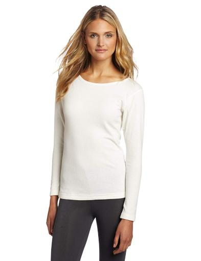Duofold Women's Mid Weight Double Layer Thermal Shirt,, Winter White, Size Small