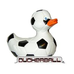 Rubba Ducks RD00013 Duckerball with Patches - Black and White