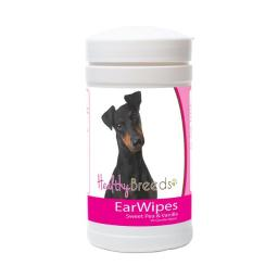 Healthy Breeds 840235173519 Manchester Terrier Ear Wipes - 70 Count