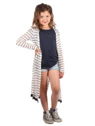 1b88db6a55a Lori   Jane Big Girls White Black Stripes Trendy Long Cardigan 6-14 · More  Size