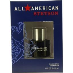 ALL AMERICAN STETSON by Coty COLOGNE SPRAY 1 OZ for MEN (Package Of 4)