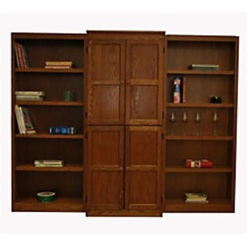 Concepts In Wood WKT3072-D 3-Piece Wall and Storage System, Dry Oak Finish 15 Shelves
