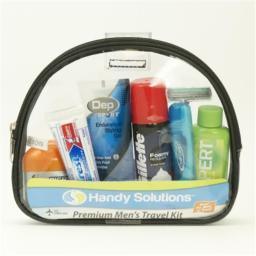 DDI 1868336 Handy Solutions Premium Men's Travel Kit Case of 12
