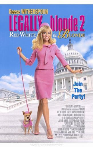 Legally Blonde 2 Red, White & Blonde Movie Poster (11 x 17) MH077WGOU2RI9Z5Z