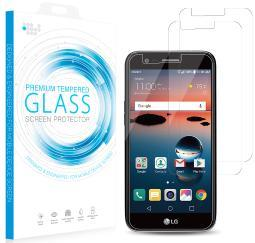 2X HARD TEMPERED GLASS CLEAR SCREEN PROTECTOR FOR LG ZONE 4, RISIO-2 REBEL 3 LTE
