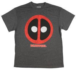 Marvel Deadpool Mens' Distressed Logo With Tittle T-Shirt